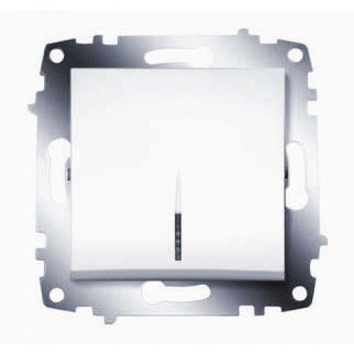 Механизм выключателя 1-кл. СП Cosmo 10А IP20 с подсветкой бел. ABB 619-010200-201