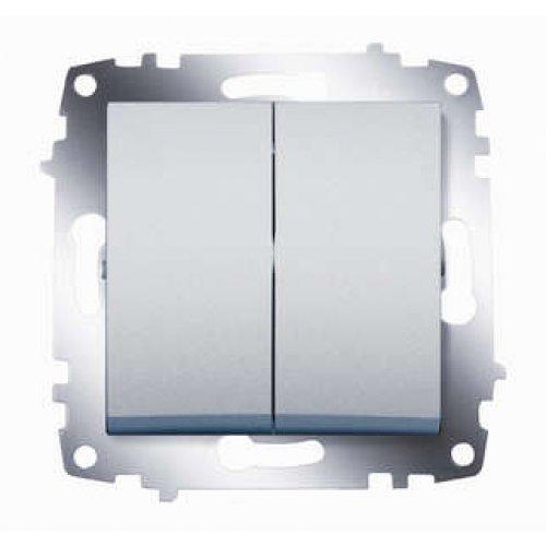 Механизм выключателя 2-кл. СП Cosmo 10А IP20 алюм. ABB 619-011000-202