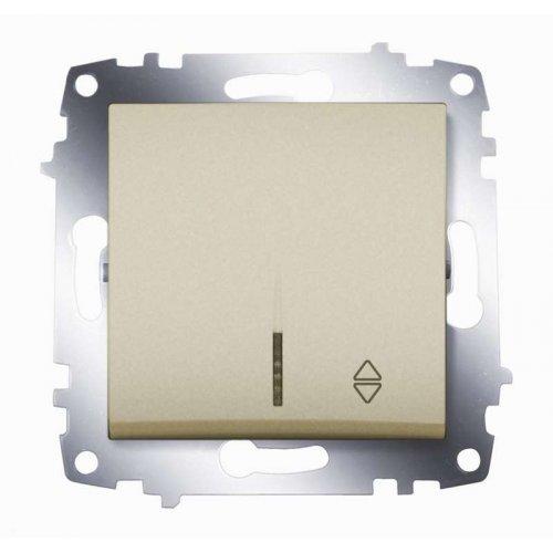 Механизм переключателя 1-кл. Cosmo схема 6 с подсветкой титаниум ABB 619-011400-210