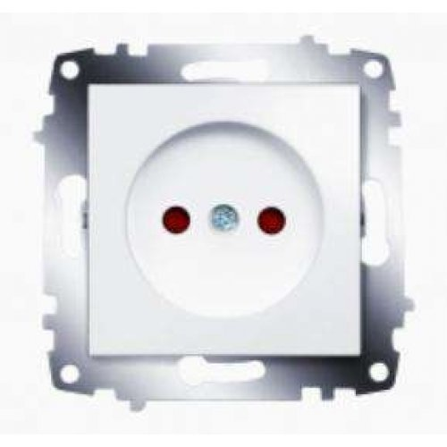 Механизм розетки 1-м СП Cosmo 16А IP20 защ. шторки без заземл. бел. ABB 619-010200-286