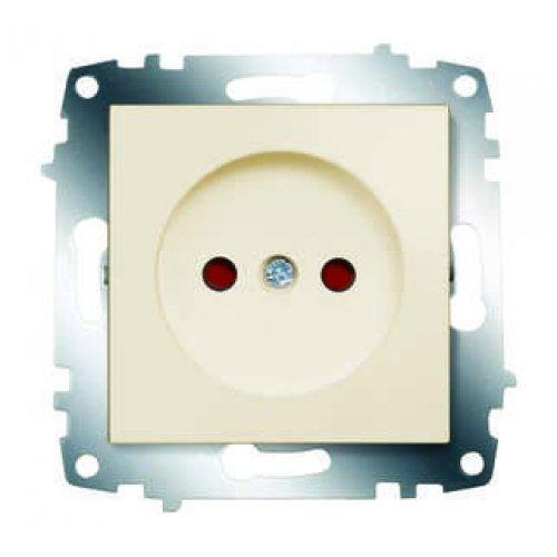 Механизм розетки 1-м СП Cosmo 16А IP20 защ. шторки без заземл. крем. ABB 619-010300-286