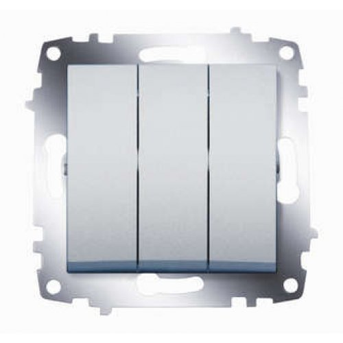 Механизм выключателя 3-кл. СП Cosmo 10А IP20 алюм. ABB 619-011000-254