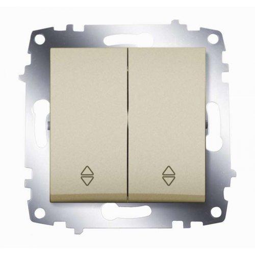 Механизм переключателя 2-кл. Cosmo схема 6 титаниум ABB 619-011400-211