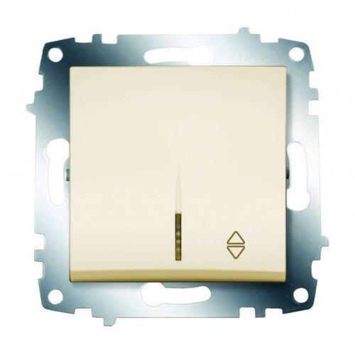 Механизм переключателя 1-кл. Cosmo схема 6 с подсветкой крем. ABB 619-010300-210