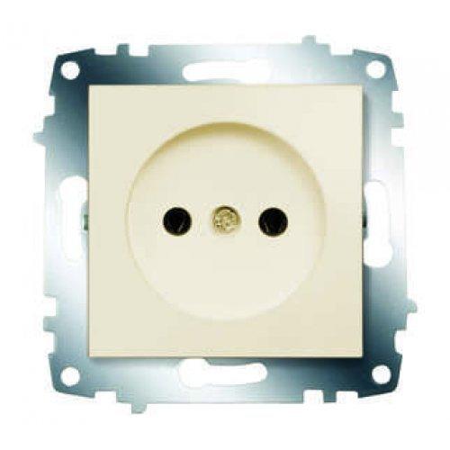 Механизм розетки 1-м СП Cosmo 16А IP20 без заземл. крем. ABB 619-010300-215
