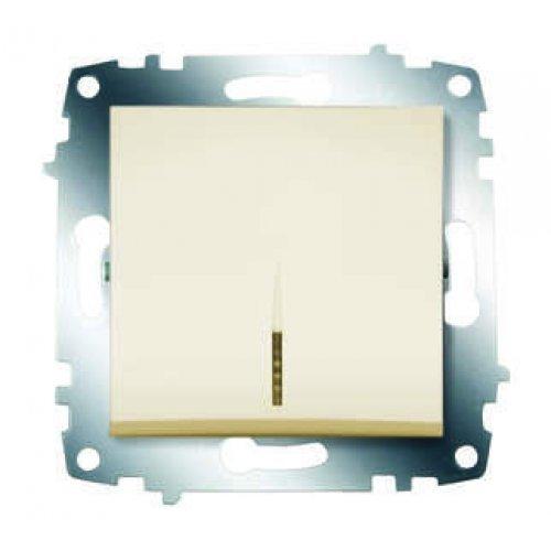 Механизм выключателя 1-кл. СП Cosmo 10А IP20 с подсветкой крем. ABB 619-010300-201
