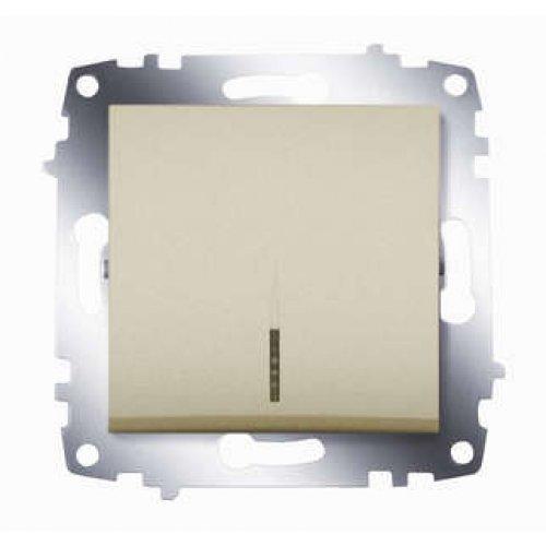 Механизм выключателя 1-кл. СП Cosmo 10А IP20 с подсветкой титаниум ABB 619-011400-201
