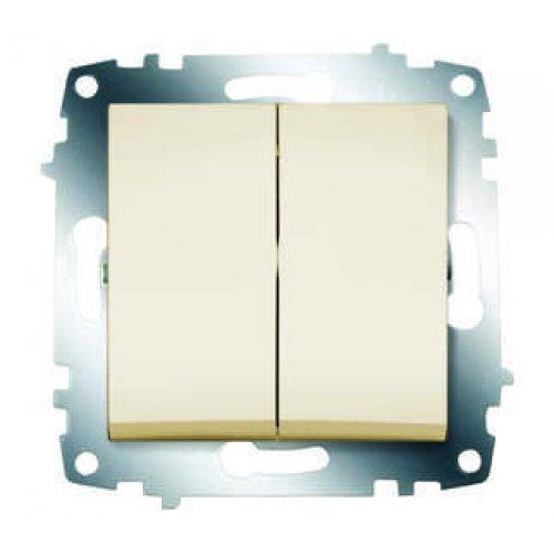 Механизм выключателя 2-кл. СП Cosmo 10А IP20 крем. ABB 619-010300-202