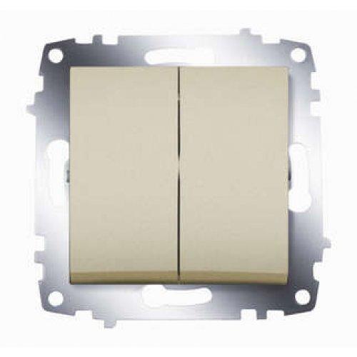 Механизм выключателя 2-кл. СП Cosmo 10А IP20 титаниум ABB 619-011400-202