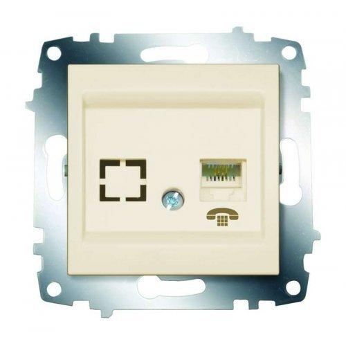 Механизм розетки телеф. 1-м Cosmo (RJ11 + гнездо) крем. ABB 619-010300-221
