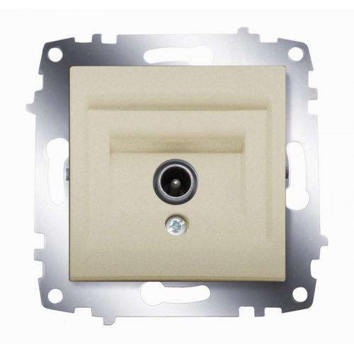Механизм розетки TV Cosmo без потерь с экранированием титаниум ABB 619-011400-274