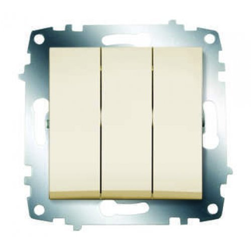 Механизм выключателя 3-кл. СП Cosmo 10А IP20 крем. ABB 619-010300-254