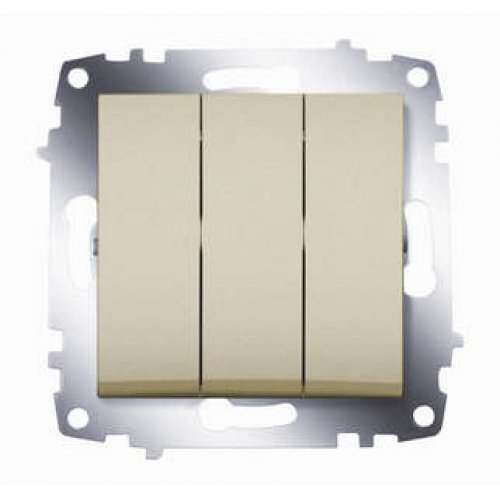 Механизм выключателя 3-кл. СП Cosmo 10А IP20 титаниум ABB 619-011400-254