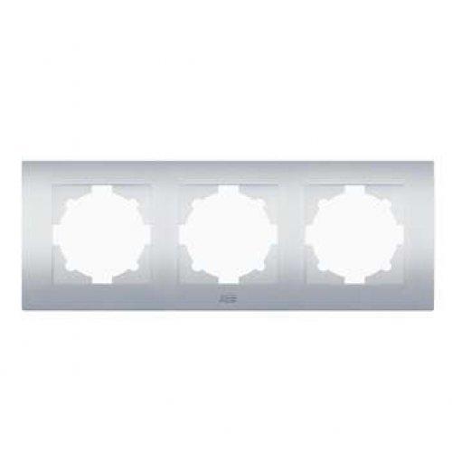 Рамка 3-м Cosmo алюм. ABB 612-011000-227