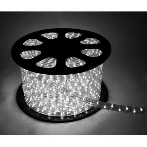 Шнур светодиодный Дюралайт свечение с динамикой 3W 220В 3.4Вт/м d13мм (уп.100м) IP44 бел. Космос KOC-DL-3W13-W