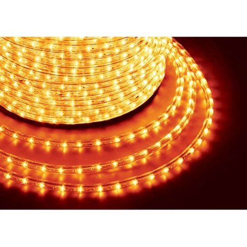Шнур светодиодный Дюралайт фиксинг круглый 13мм 2.4Вт/метр 220В IP54 жел. (уп.100м) NEON-NIGHT 121-121