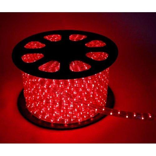 Шнур светодиодный Дюралайт свечение с динамикой 3W 220В 3.4Вт/м d13мм (уп.100м) IP44 красн. Космос KOC-DL-3W13-R