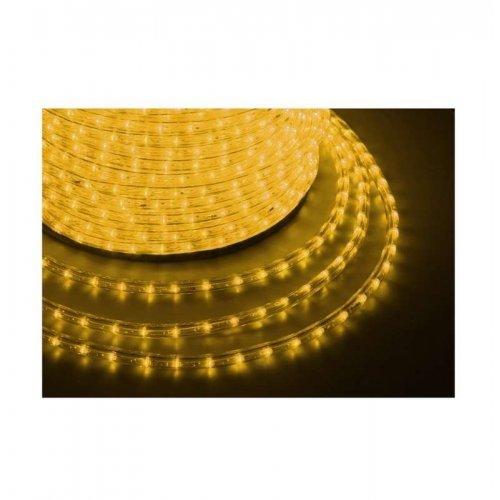 Шнур светодиодный Дюралайт чейзинг круглый 13мм жел. 2.4Вт/м 220В IP54 (уп.100 м) NEON-NIGHT 121-321