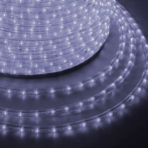Шнур светодиодный Дюралайт эффект мерцания круглый 24LED/м Эконом бел. (уп.100м) Neon-Night 121-255-4