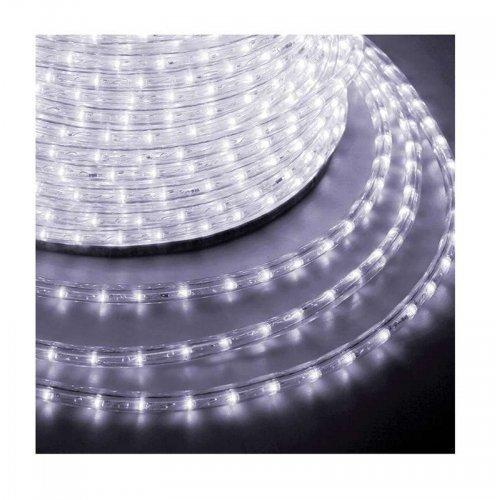 Шнур светодиодный Дюралайт фиксинг круглый 10мм 24LED/м бел. (уп.100м) NEON-NIGHT 121-125-3