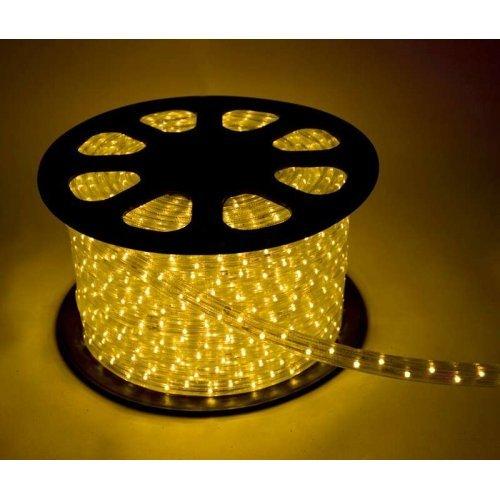 Шнур светодиодный Дюралайт постоянного свечения 2W 220В 1.8Вт/м d13мм (уп.100м) IP44 жел. Космос KOC-DL-2W13-Y