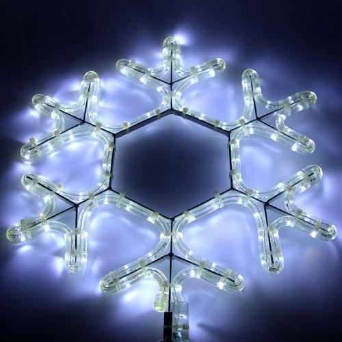 """Фигура из дюралайта """"Снежинка"""" 45смх38см 10Вт 220В IP44 бел. NEON-NIGHT 501-212"""