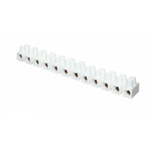Колодка клеммная 14мм 20А полистирол белая PROxima (10шт)