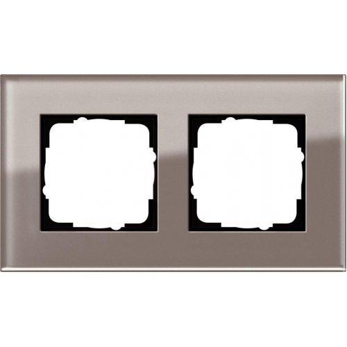 Рамка 2-постовая Gira Esprit дымчатое стекло 0212122