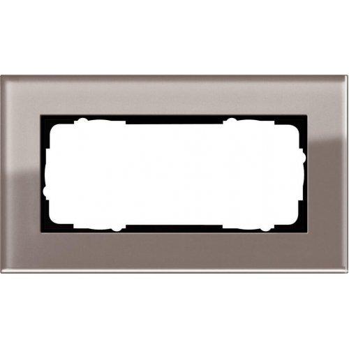 Рамка 2-модульная Gira Esprit дымчатое стекло 1002122