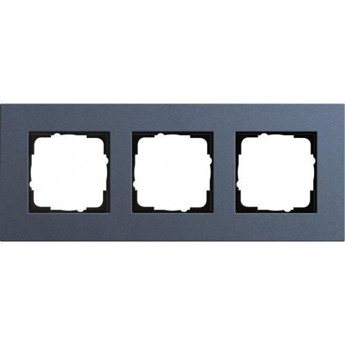 Рамка 3-постовая Gira Esprit Lenoleum-Multiplex синий 0213227