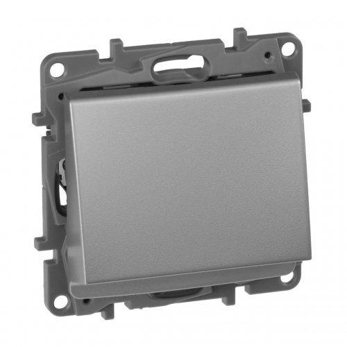 Механизм выключателя карточный 1-кл. СП Etika 2А с выдержкой врем. и подсветкой алюм. Leg 672493