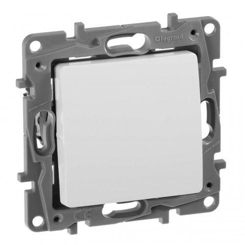 Механизм кнопки 1-кл. СП Etika Plus 6А с Н.О./Н.З. контактом безвинт. зажимы бел. Leg 672214