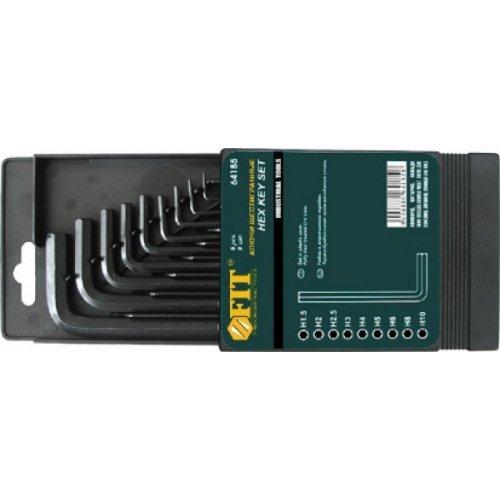Ключи шестигранные короткие (1.5 - 10 мм) CrV (9 шт)
