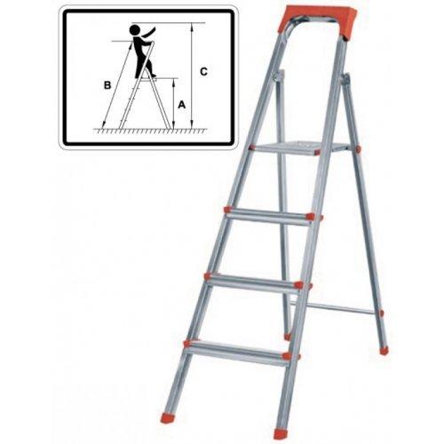 Лестница-стремянка стальная 3 ступени 4.1 кг