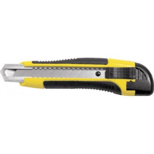 Нож технический 18 мм прорезиненный