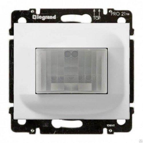 Датчик движения GaleaLife ИК трехпроводный с N 1000Вт бел. Leg 775673