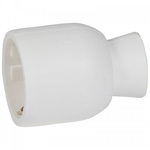 Розетка штепсельная Helium 16А с заземл. пластик бел. Leg 050189