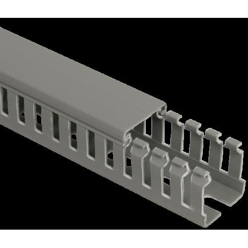 Кабель-канал перфорированный 100х60 L2000 пластик ИМПАКТ серия М (7х11) ИЭК CKM50-100-060-1-K03