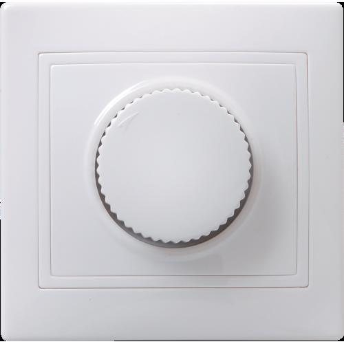 Светорегулятор поворот. СП КВАРТА IP20 ВСР10-1-0-КБ бел. ИЭК EDK10-K01-03-DM