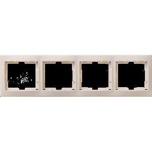 Рамка 4-м КВАРТА РГ-4-ККм горизонт. крем. ИЭК EMK40-K33-DM