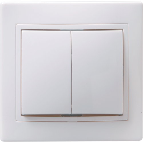 Выключатель 2-кл. СП КВАРТА 10А IP20 ВС10-2-0-КБ бел. ИЭК EVK20-K01-10-DM