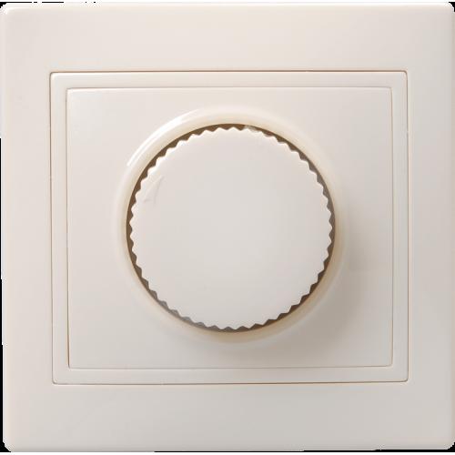 Светорегулятор поворот. СП КВАРТА IP20 ВСР10-1-0-ККм крем. ИЭК EDK10-K33-03-DM