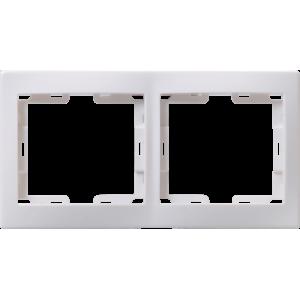 Рамка 2-м КВАРТА РГ-2-КБ горизонт. бел. ИЭК EMK20-K01-DM