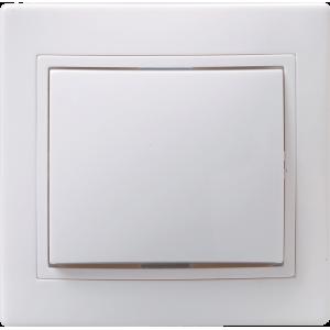 Выключатель 1-кл. СП КВАРТА проход. 10А IP20 ВСп10-1-0-КБ бел. ИЭК EVK12-K01-10-DM