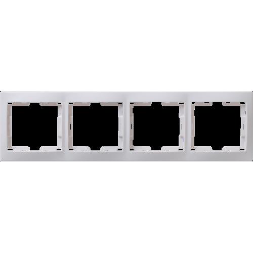 Рамка 4-м КВАРТА РГ-4-КБ горизонт. бел. ИЭК EMK40-K01-DM