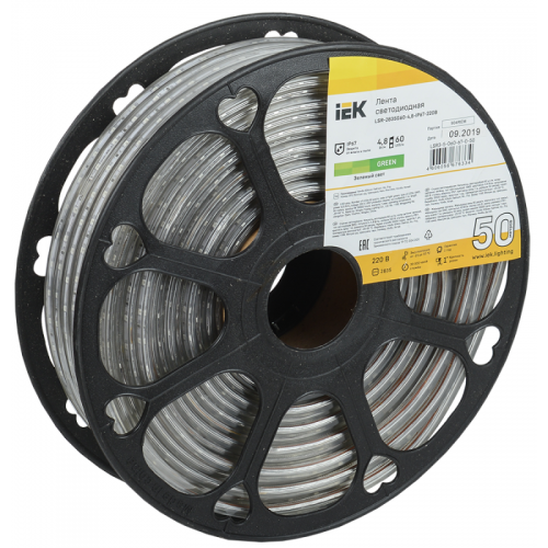 Лента светодиодная LED LSR-2835G60-4.8-IP67-220В (уп.50м) ИЭК LSR3-5-060-67-0-50