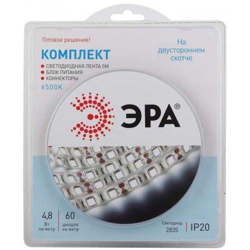 Лента светодиодная 2835kit-4.8-60-12-IP20-6500 (уп.5м) ЭРА Б0043061