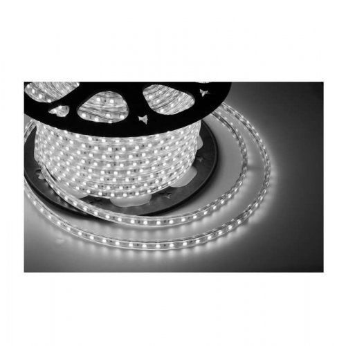 Лента светодиодная SMD3528 10х7мм 60LED/м 4.8Вт/м 220В IP67 бел. (уп.100м) NEON-NIGHT 142-605
