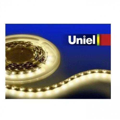 Лента светодиодная ULS-3528-60LED/м 8мм IP33 DC24В 4.8Вт/м-5M-WW Uniel 04911