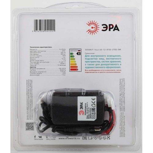 Лента светодиодная 5050kit-14.4-60-12-IP20-2700 (уп.5м) ЭРА Б0043066